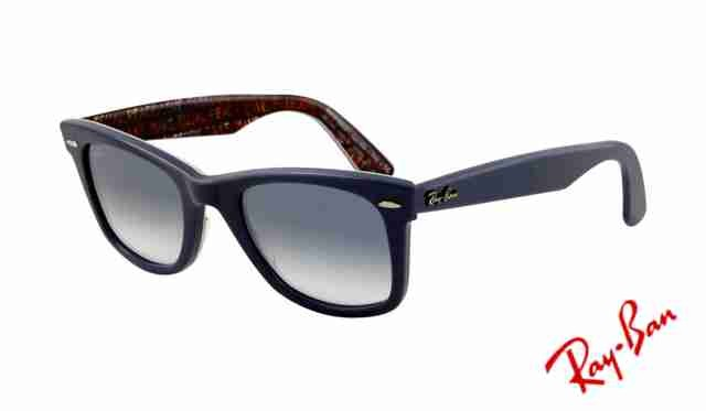 Fake Ray Ban RB2140 Wayfarer Sunglasses Top Texture on Blue Frame