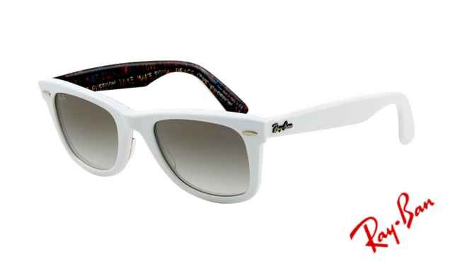 ab5f3a38947a4 Fake Ray Ban RB2140 Wayfarer Sunglasses Top Texture on White Frame