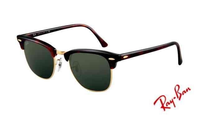 Fake Ray Ban RB3016 Clubmaster Sunglasses Mock Tortoise Arista Frame