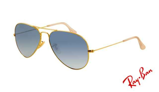fake ray ban rb3025 aviator sunglasses gold frame crystal gradient