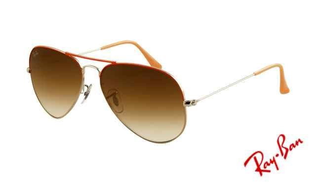 Fake Ray Ban RB3025 Aviator Sunglasses Red Arista Frame Crystal Brown
