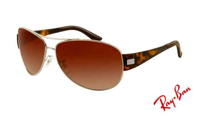 ray ban arista v5rm  Fake Ray Ban RB3467 Sunglasses Arista Frame Brown Gradient Lens