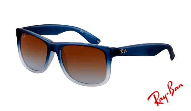 Fake Ray Ban RB4165 Justin Sunglasses Rubber Gradient Blue Frame
