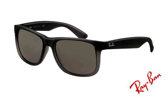 ray ban justin polarized  Ray Ban RB4165 Justin Sunglasses Rubber Grey with Grey