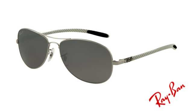 ray ban 8301  Fake Ray Ban RB8301 Tech Sunglasses Gunmetal Frame Grey Mirror