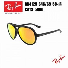01a3dc58292 Fake Ray Ban RB4125 CATS5000 646 69 3N black Flash Lens