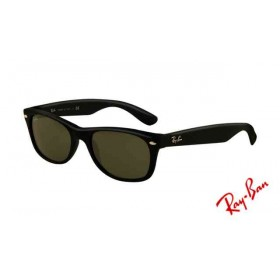 e42c02f766878 Fake Ray Ban RB2132 Wayfarer Sunglasses Black Frame Crystal Green Lens