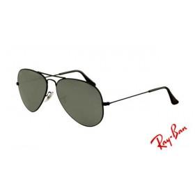 22d2d7304b6 Fake Ray Ban RB3025 Aviator Sunglasses Black Frame Green Crystal Grey