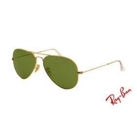 c0fe006793 Fake Ray Ban RB3025 Aviator Sunglasses Gold Frame Crystal Green Lens
