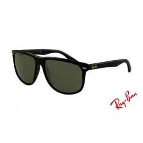 52e000a9180 Fake Ray Ban RB4147 Sunglasses Black Frame Light Green Polarized Lens