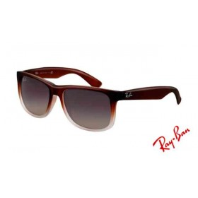6231f549ad Fake Ray Ban RB4165 Justin Sunglasses Shiny Black Frame Purple
